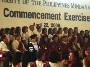 Comm Arts Graduates with UP officials